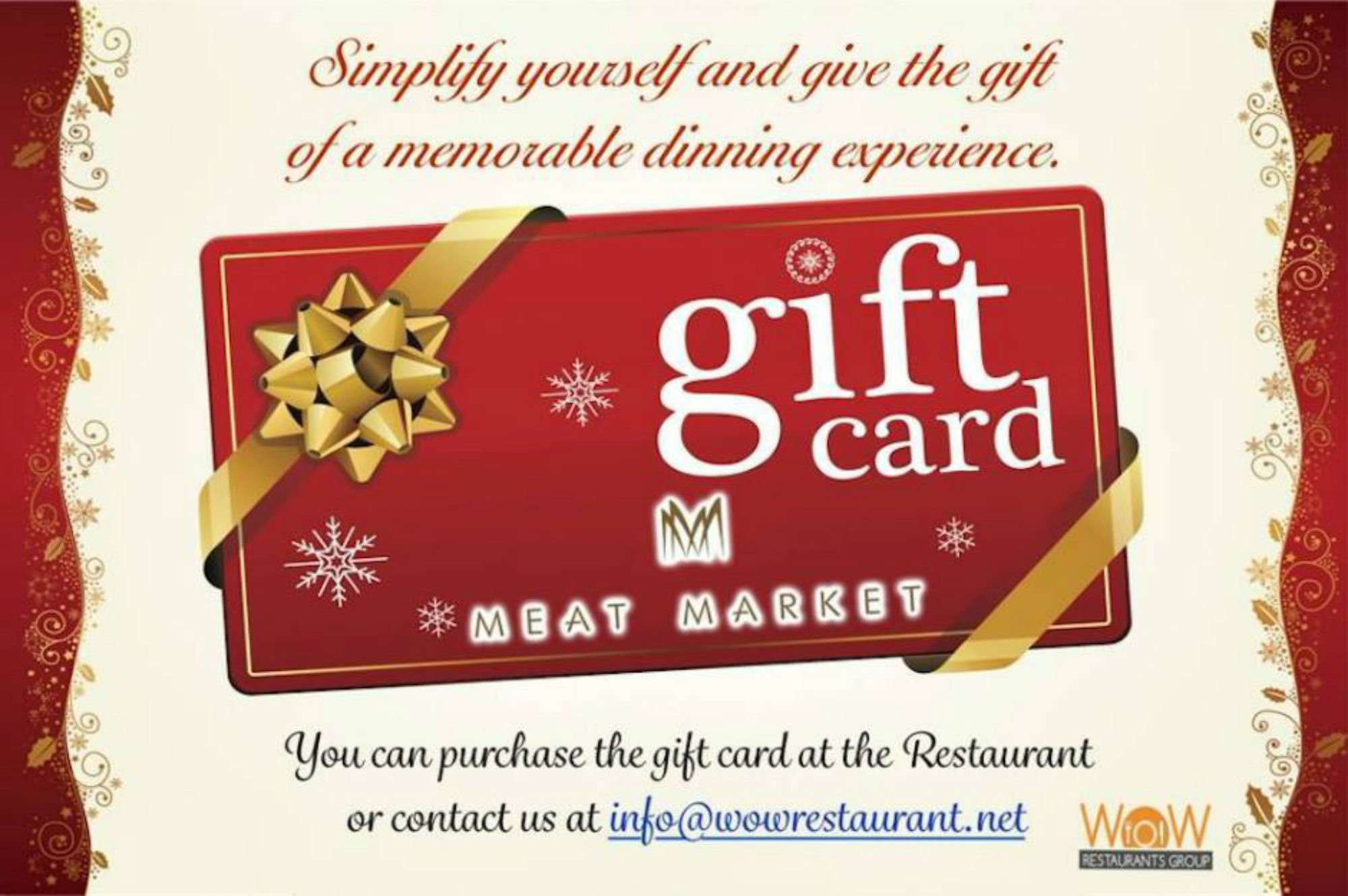 Christmas Gift Card Poster.Look This Amazing Meat Market Christmas Gift Card Meat